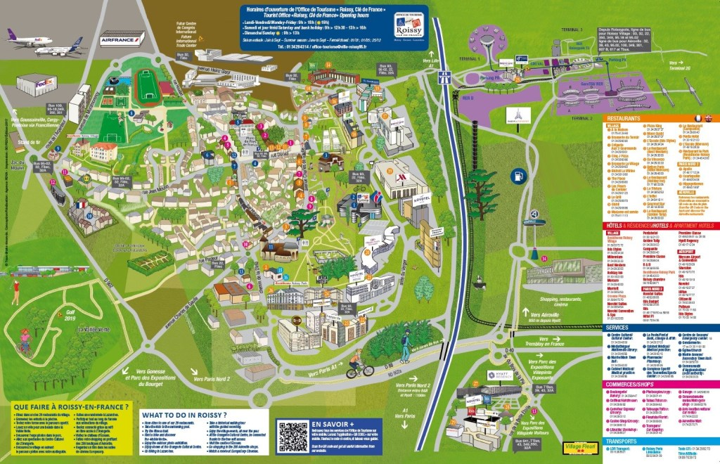 Map of things to do in Rosily France