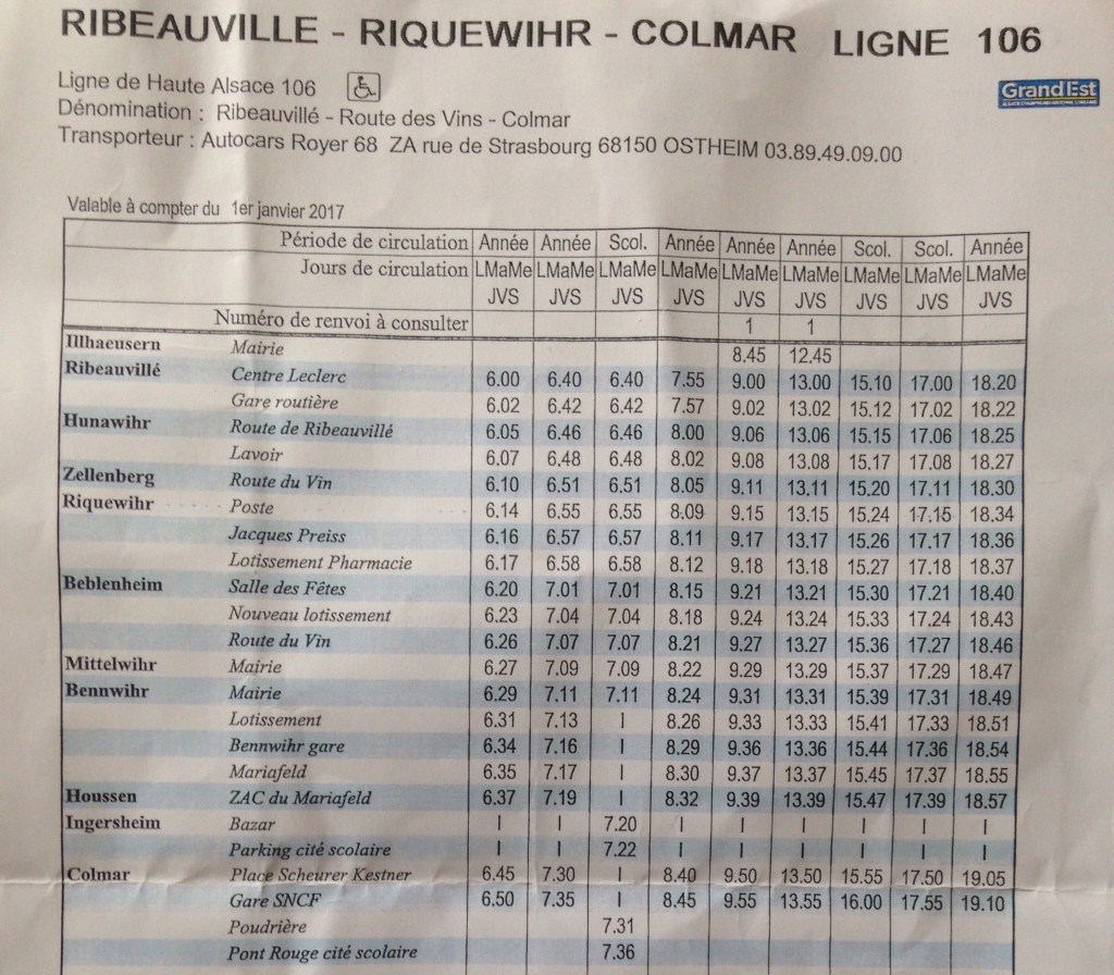 How to get to Ribeauville and Riquewihr from Colmar