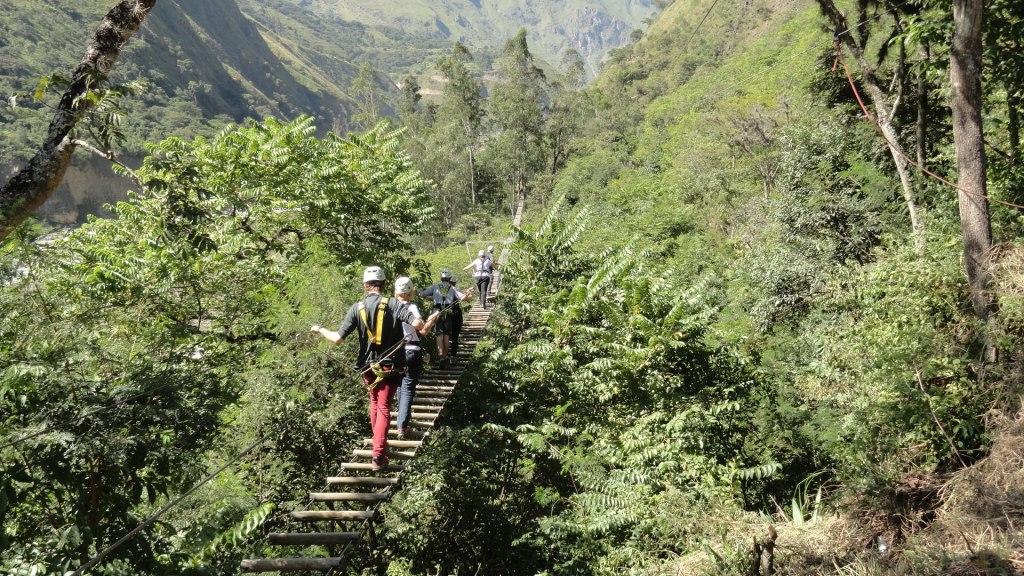 Hiking to Machu Picchu - Bridge