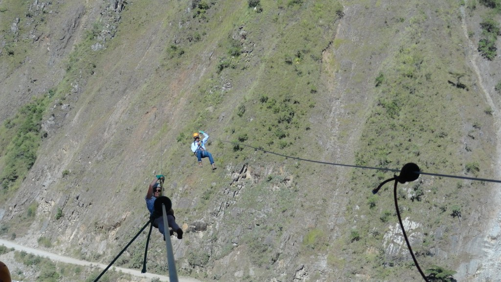 Hiking to Machu Picchu - Ziplining