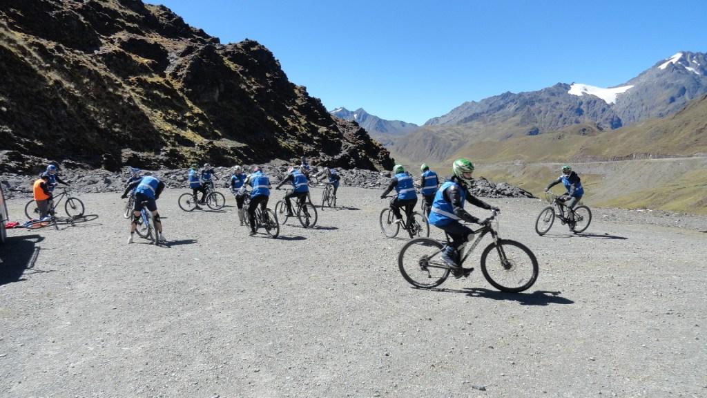 Cycling down Abra Malaga - Bikes