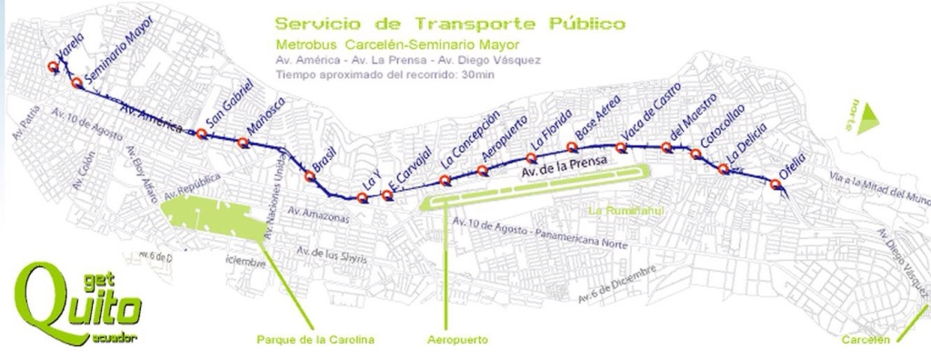 Quito Bus Route Map