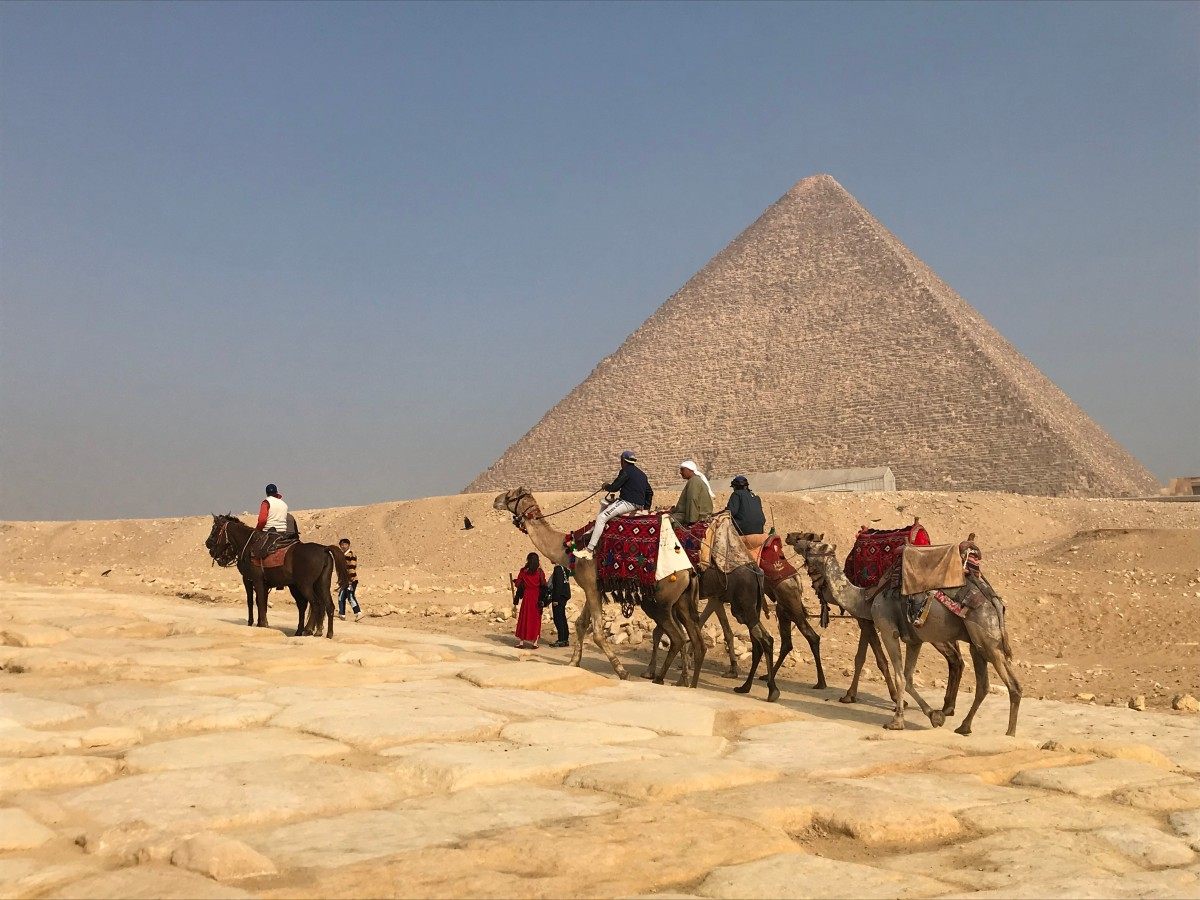 Great Pyramid, Giza, Egypt, camels