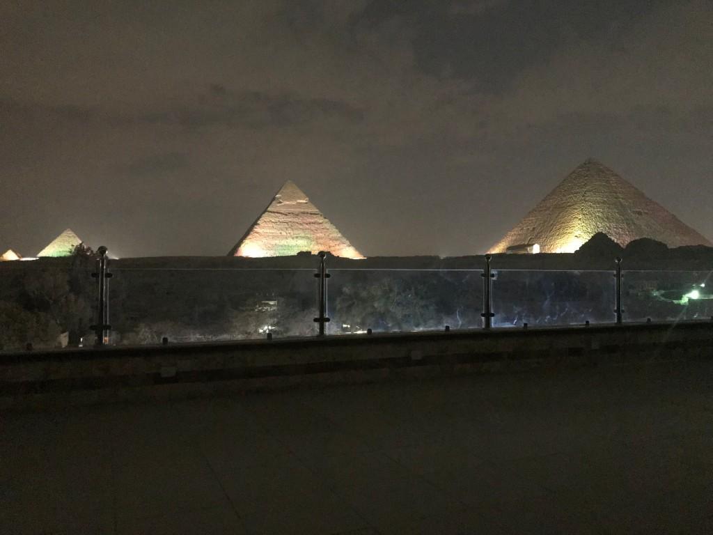 Light show in Giza Egypt