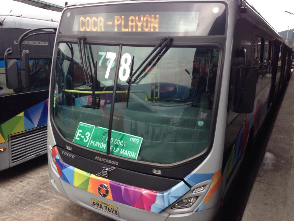 Bus from Quito City Center to Quito Mariscal Playon de la Marin