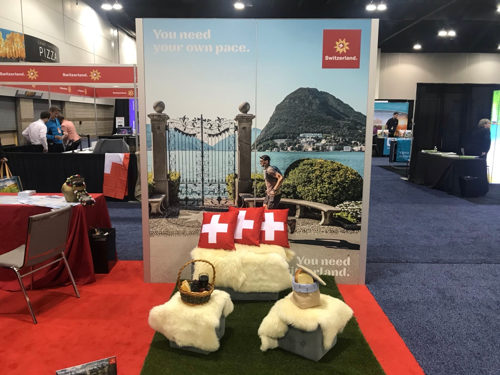 2020 travel adventure show Denver Switzerland booth
